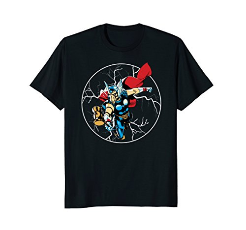 T-shirt Beta Black (Mens Marvel Beta Ray Bill Lightning Graphic T-Shirt 2XL Black)