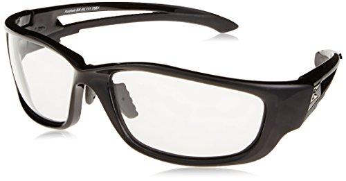 (Edge Kazbek XL Safety Glasses With Black Frame And Clear Lens)
