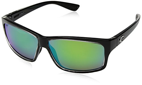 Costa del Mar Cut Polarized Iridium Square Sunglasses, Squallgreen Mirror 580P, 60.6 - Mar Del Costa Cut