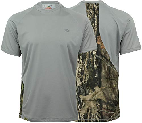 (Mossy Oak Performance Moisture Wicking Outdoor Cooling Shirt for Men in Multiple Colors)