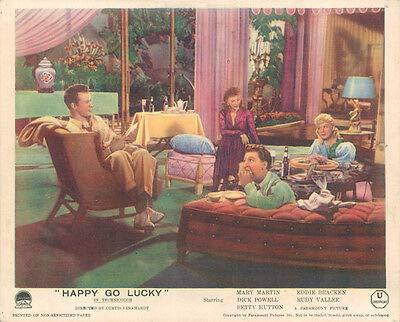 Happy Go Lucky Original Lobby Card Mary Martin Dick Powell Betty Hutton