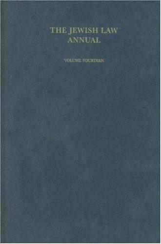 Download The Jewish Law Annual Volume 14 Pdf