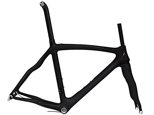 3K Full Carbon Matt Road Bike 700C Frameset : 50cm Frame Fork Seatpost Clamp Headset