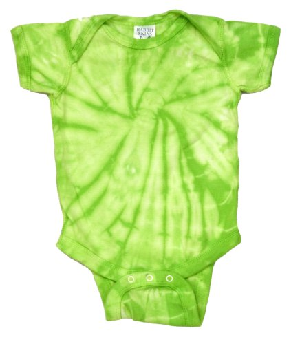 tie dye Infant Creeper - Lime Spiral - 24M