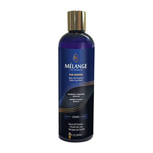 Melange Organic & Natural Anti-Hair Loss & Hair Growth Concentrated Shampoo, 8 OZ by Mélange Hair Products