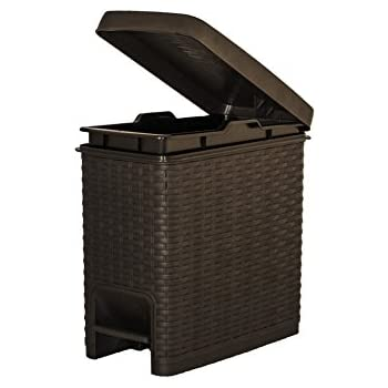 Amazon.com: 1,6 Gal. Estilo compacto basura puede de ratán ...