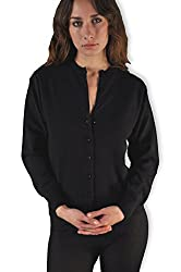 Women S Scottish Cashmere Cardigan Sweater Black X Large
