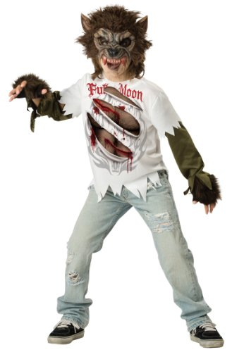 Scary Big Bad Wolf Costumes (Werewolf Child Costume - Large)