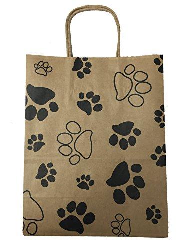 Medium Kraft Bags, 8 x 10.25 x 4.5 Gusset, Set of 13 (Dog Print)