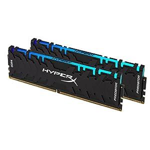 HyperX Kingston 16GB 2933MHz DDR4 CL15 DIMM (Kit of 2) XMP Predator RGB (HX429C15PB3AK2/16) - 16GB Kit (2 x 8GB), Black