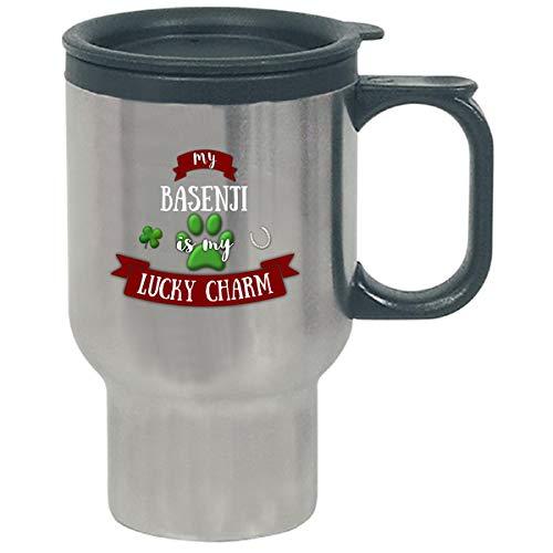 My Basenji Is My Lucky Charm Custom Dog Owner Gift - Travel Mug