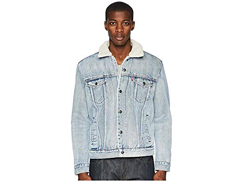 Levis Red Tab Men's Type III Sherpa Trucker Jacket, Stonebridge, Small