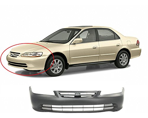 Honda Accord Sedan Bumper Cover - MBI AUTO Primered, Front Bumper Cover 2001 2002 Honda Accord Sedan, HO1000196