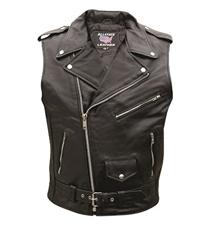 matching in colour uk store select for authentic Men's AL2012 Basic Sleeveless Motorcycle Jacket 36 Black