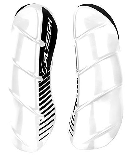 SlyTech Ski Racing Shin Guards, Plastic Shin Guards, Shin Protection, Ski Racing Protection, White/Black, (Slytech Shin Guards)