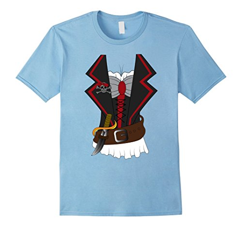 Mens Sexy Women Pirate Costume Outfit Shirt | Halloween T-Shirt 3XL Baby Blue