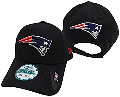 New England Patriots The League Black 9FORTY Adjustable Hat / Cap