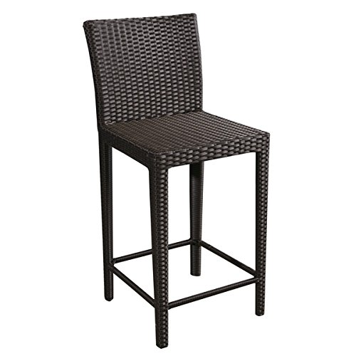 Abbyson Ballard Brown Wicker Bar Stool