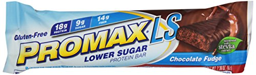 Promax LS Basse sucre Protein Bar, Chocolate Fudge, 2,36 once, 12-Pack