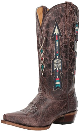 Roper Women's Arrows Western Boot, Brown-3, 8.5 Medium US - Roper Leather Fashion Boots