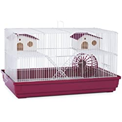 Prevue Hendryx SP2060R Deluxe Hamster and Gerbil Cage, Bordeaux Red