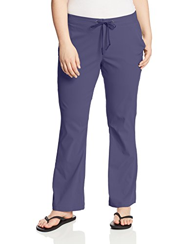 Columbia Women's Anytime Outdoor Boot Cut Pant Plus Size, Nocturnal, 16W