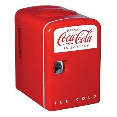 Coca Cola 0.14 cubic foot Retro Fridge in Red by Coca-Cola
