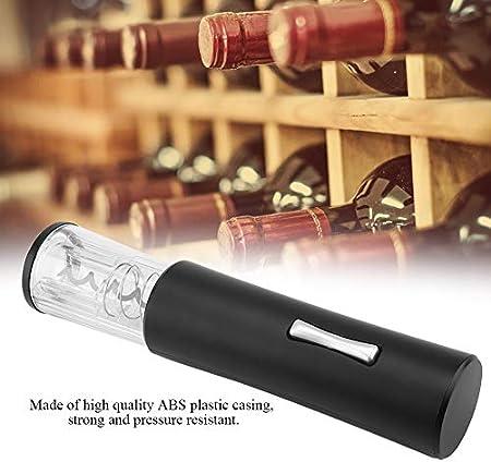 Cuifati Abridor de Vino Hogar ABS Abridor de Vino Eléctrico Abrebotellas Sacacorchos (batería no incluida)