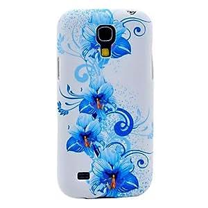 YXF Blue Amaryllis Pattern Back Cover TPU Soft Case for Samsung Galaxy S4 Mini I9190