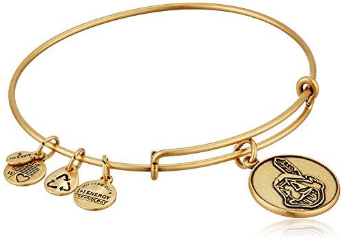 [Alex and Ani Cleveland Indians Cap Logo Expandable Rafaelian Gold Bangle Bracelet] (Mlb Jewelry)