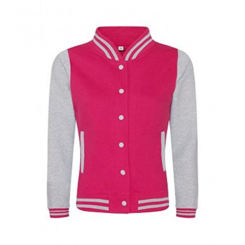Grey Burgundy AWDis Varsity Girlie Heather Ladies Womens Jacket 0qRPwg