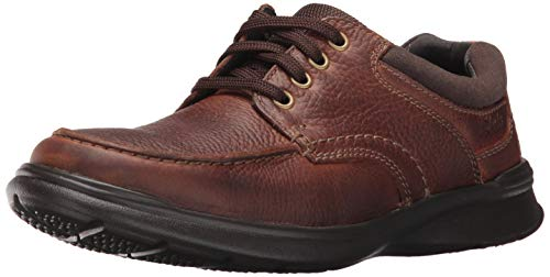 Clarks Men's Cotrell Edge Oxford,Tobacco Oily Leather, 9 M - Dress Shoes Clarks