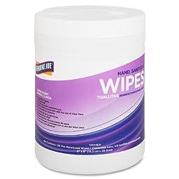 Genuine Joe GJO14144EA Lemon Scent Hand Sanitizing Wipes (Tub of 240)