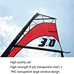JNWEIYU-Gonfiabile-Windsurf-Set-Tavola-da-SurfWindsurfBordo-di-Pala-Stand-Up-Paddle-Gonfiabile-Consiglio-Stabilizzatori-integrati-Extra-Piattaforma-Larga-Fibra-di-Vetro-Paddle