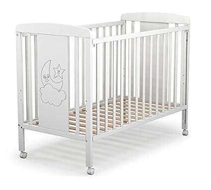 Cuna para bebé, modelo cielo. 1 lateral abatible y 3 posiciones de somier: Amazon.es: Bebé