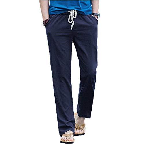 Couleur Hippie Style Simple Aladdin Loose Eastery Casual Sarouel D'été Marineblau Pantalon Homme Baggy Pure Unie UtqqPAZw