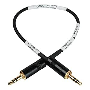 "Sescom LN2MIC-TASDR100 3.5 Line to Mic 35dB Attenuation 9"" DSLR Cable for Tascam DR-100"