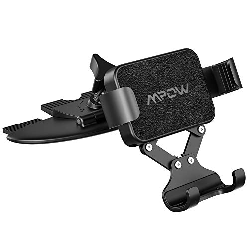 Mpow Gravity Car Phone Mount, CD Slot Phone Holder One-Handed Operation Car Phone Cradle and Auto-Lock and Release, Compatible with iPhone 11 11 Pro 11 Pro Max Xs Max X XR 8 Galaxy S10 S9 S8 Pixel LG