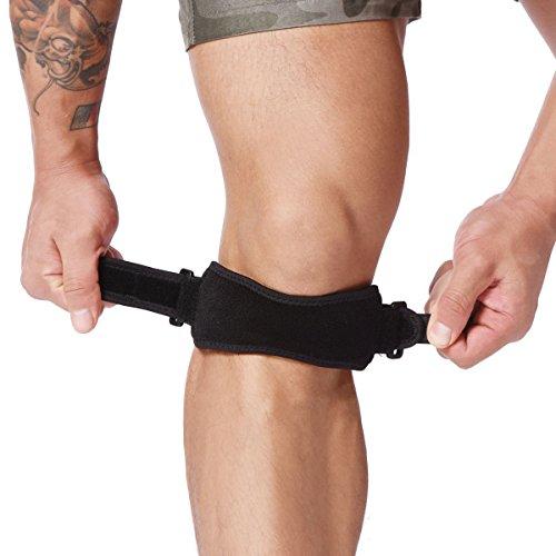 CoWalkers correa de soporte de rodilla,Correa de soporte para la rodilla para aliviar el dolor Rodillera para la tendinitis...