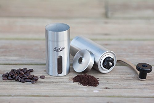 JavaPresse Manual Coffee Grinder, Conical Burr Mill, Brushed Stainless Steel by JavaPresse (Image #5)