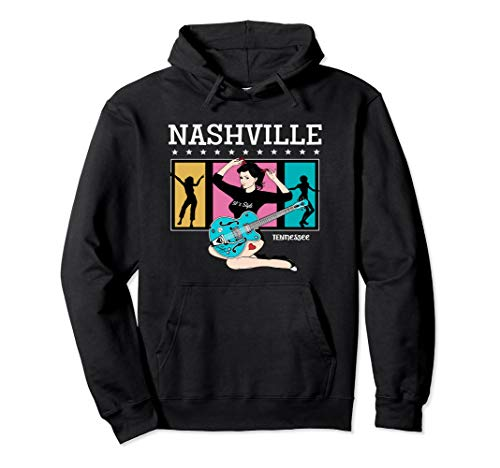 Nashville Hoodie Tennessee Rock n Roll Party Pinup Clothes ()