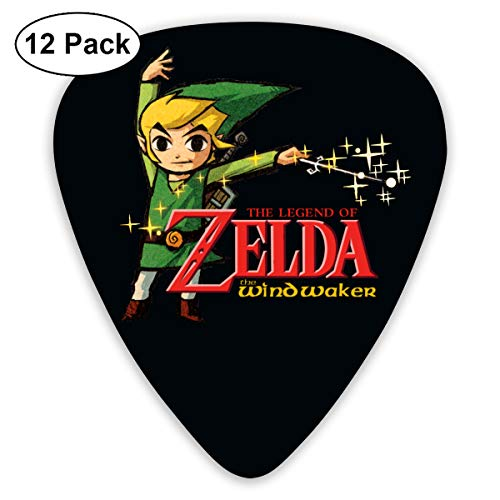 end of Zelda Wind Waker HD Colorful Celluloid Guitar Picks Plectrums for Guitar Bass 12 Pack ()