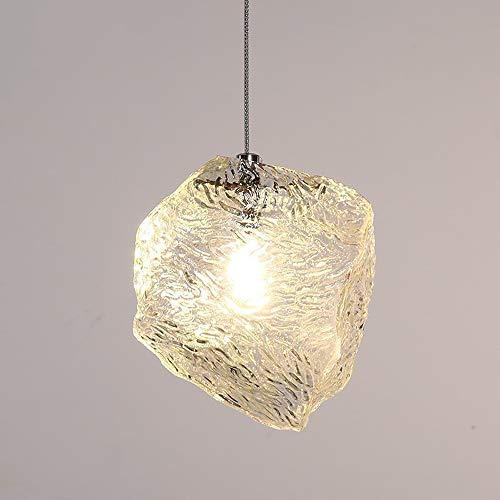 Ice Cube Pendant Lamp - Mpotow Nordic Iron Art Glass Ice Cube Led Chandelier Korean Style Simple Creative Personality Art Pendant Lamp Bedroom Bar Counter Restaurant Clothing Store Decoration Lamps