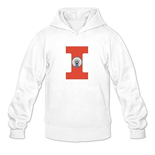 Tjame Men's Taylor Zalewski 17 Illinois Fighting Illini Hoodie Sweatshirt White