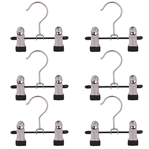 Aligle Adjustable Stainless Steel Shoe Rack Pants Folder Multi-Functional Portable travel laundry washing machine rack hooks socks clip Boot Hanger Set of 6 (6)
