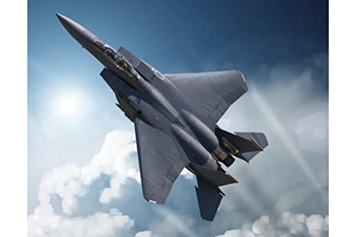 F15 Eagle Tactical Fighter Aircraft in High Attitude Maneuver Photo Art Print Poster 36x24 inch