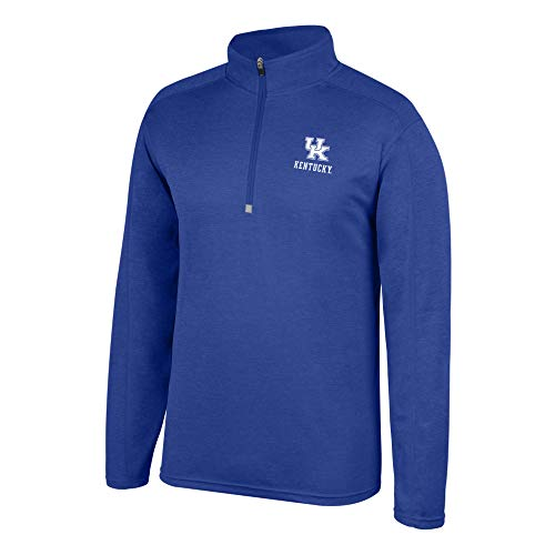 Top of the World NCAA Men's Kentucky Wildcats Team Color Heathered Poly Half Zip Pullover Royal Medium