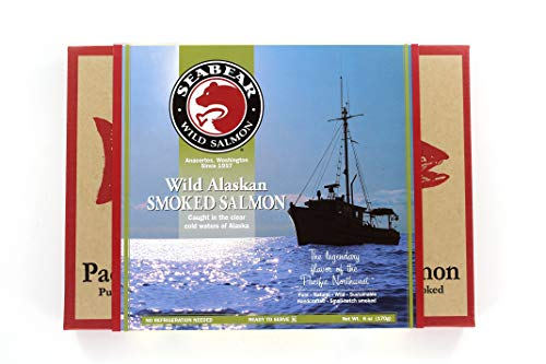 Three (3) Pack Smoked Wild Alaska Pink Salmon, 18-Ounce Box (Three Pack) -