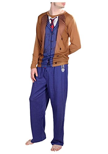 Doctor Who: 10th Doctor Adult Sleep Set Small, Brown (10th Doctor Dress)