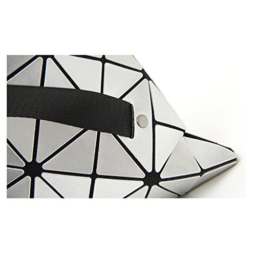 Versátil Moda Ajlbt Capacidad Viaje Mujeres Geométrica De Costura Compras Simple Gran Black Mochila qPzRqcY
